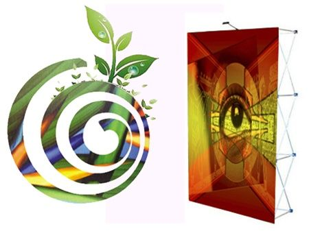 Graphic design and environmentally friendly display