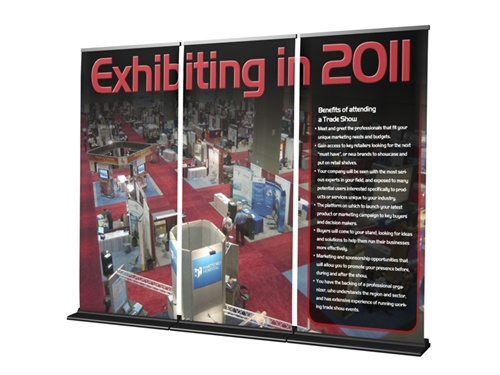retractable banner wall