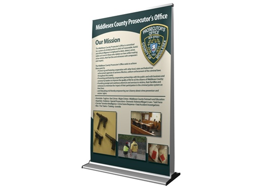 reatractable banner stand quality graphic display
