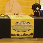 1) Branded Draped Table Throw