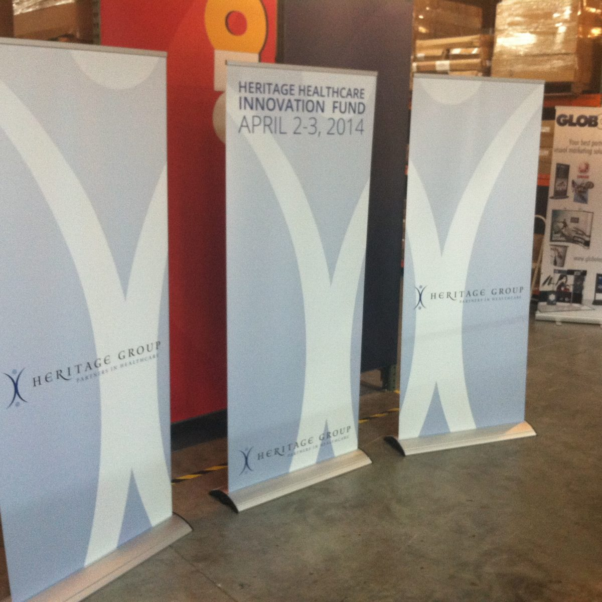 12) Retractable Banner Stand