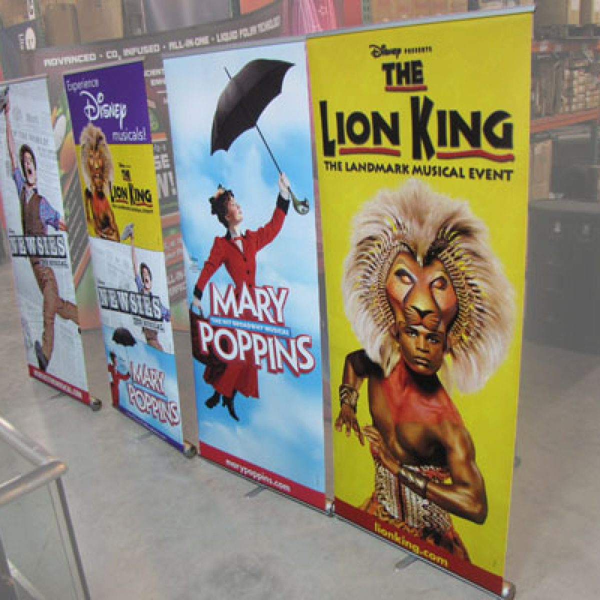 9) Retractable Banner Wall