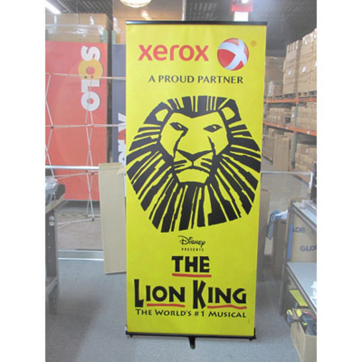 8) Retractable Banner Stand