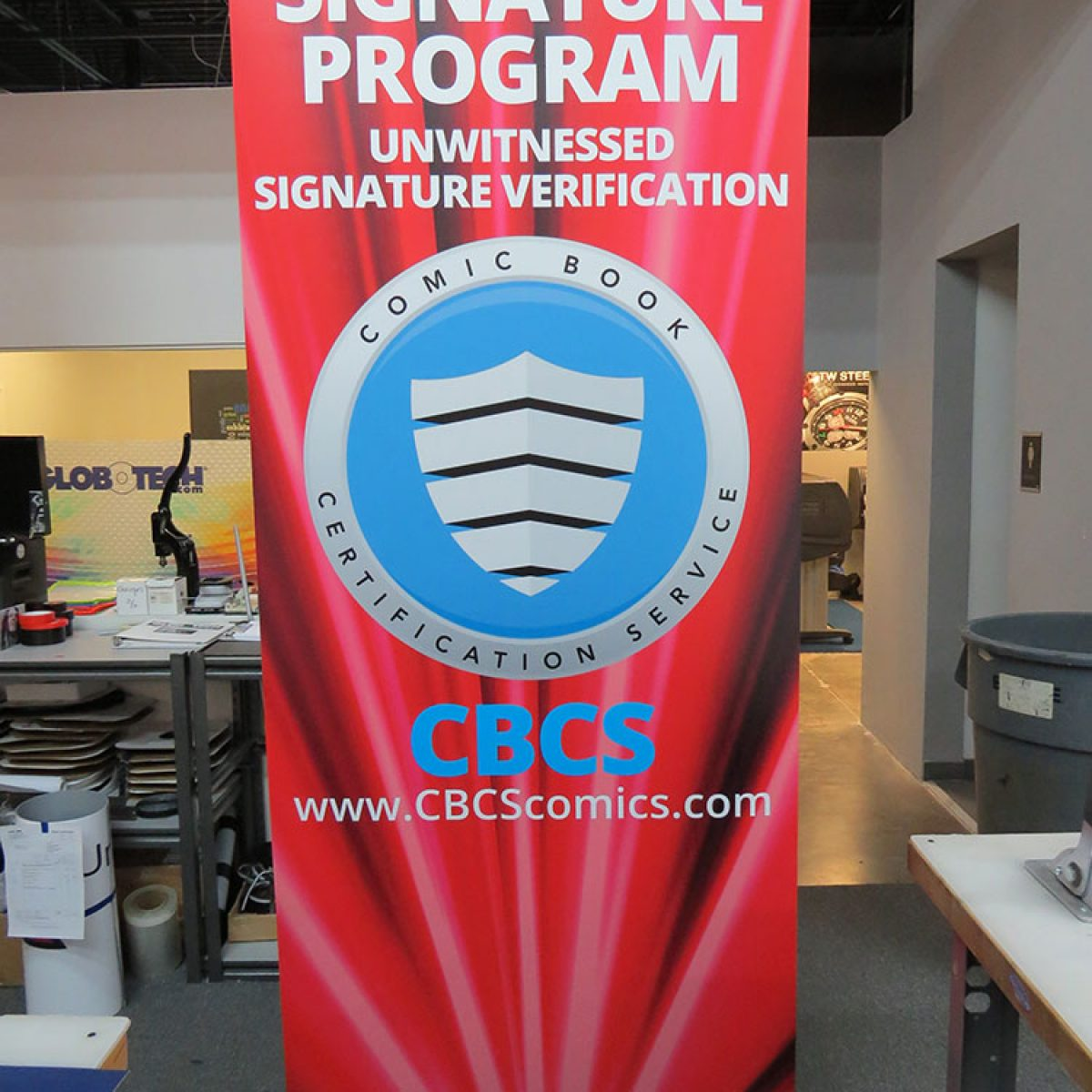 3) Retractable Banner Stand