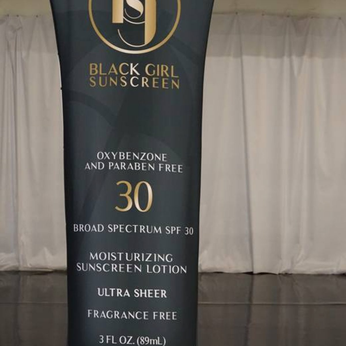 26) Black Girl Sunscreen Tension Fabric Banner Stand - 1