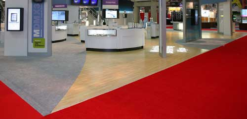 Exhibition Booth Flooring : Flooring monster displays trade show advice