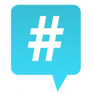 Hashtags work great for connecting discussion ideas