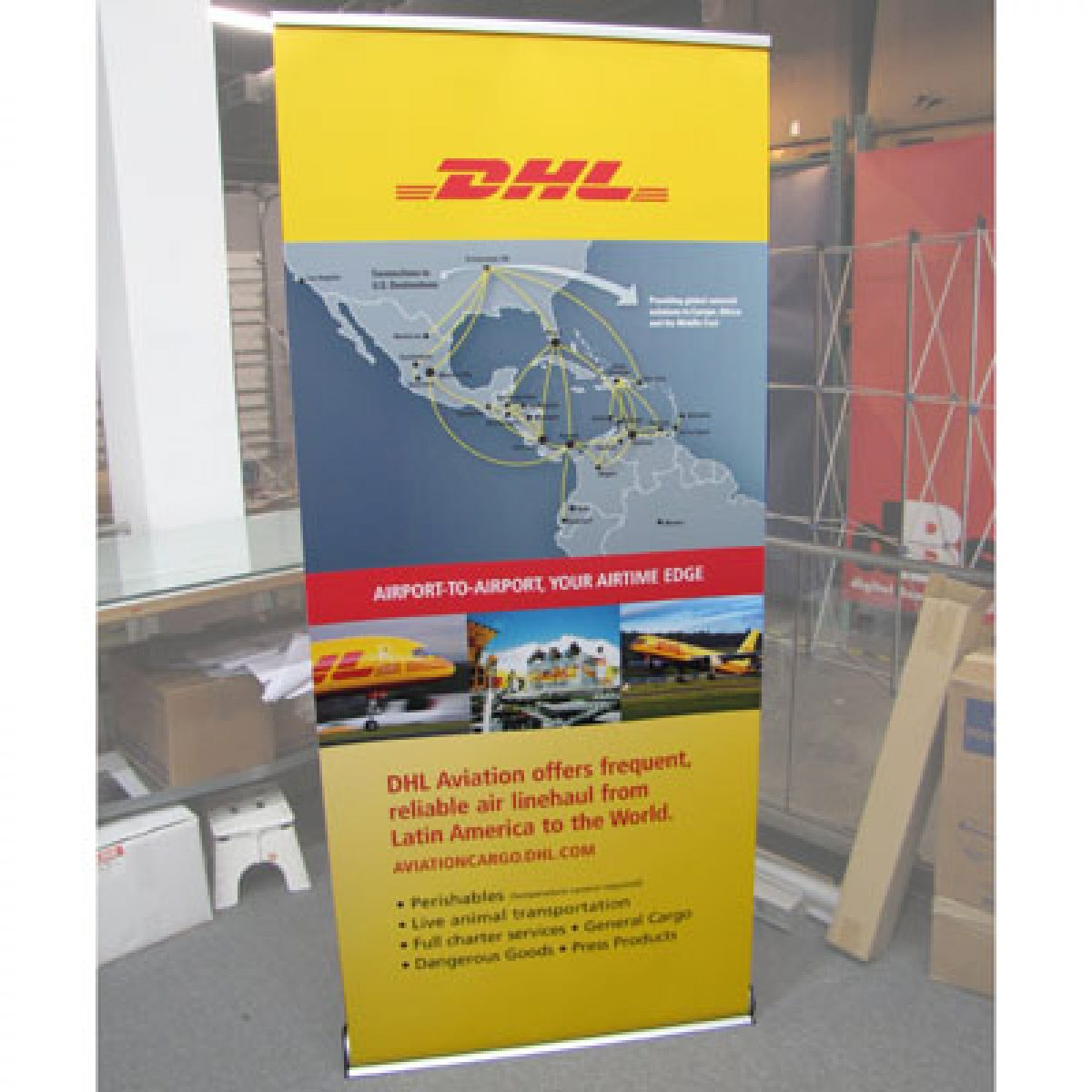 23) Retractable Banner Stand