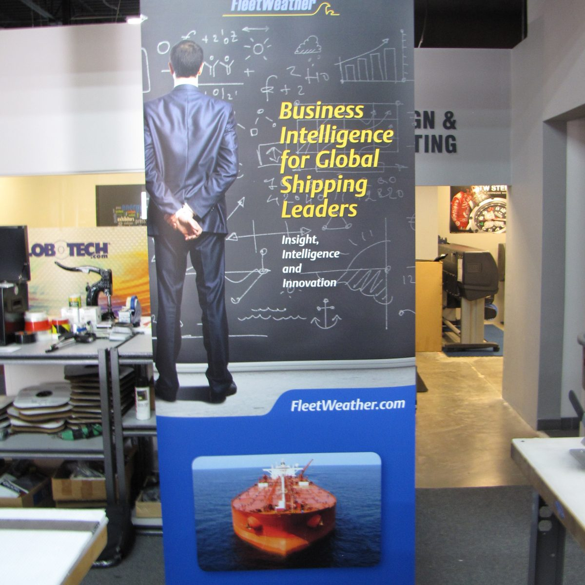 14) Retractable Banner Stand