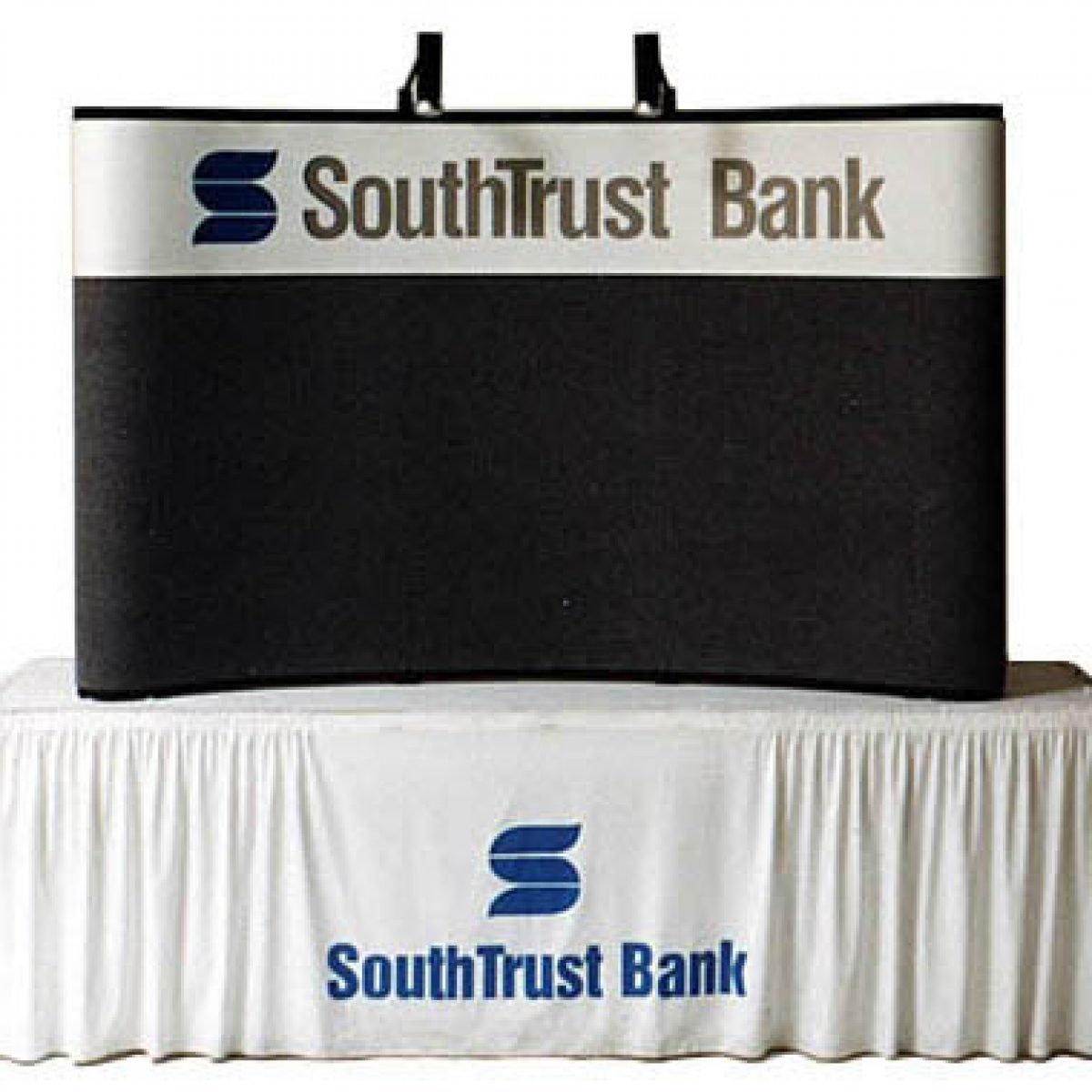 6) Branded Draped Table Throw